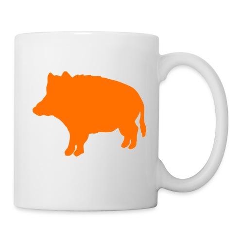 Jägertasse Wildschwein orange - Tasse