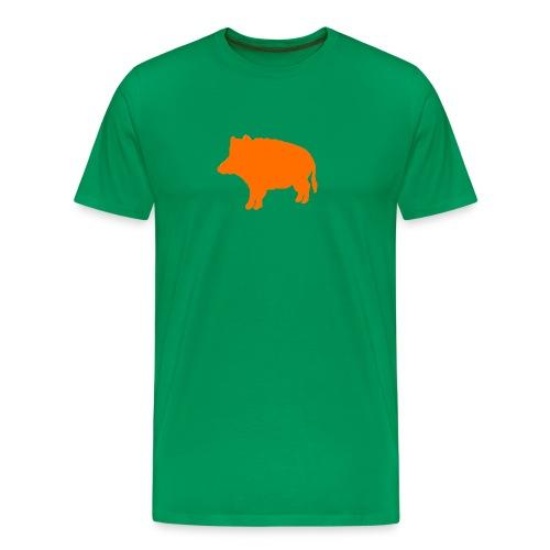 Jägershirt Wildschwein orange - Männer Premium T-Shirt