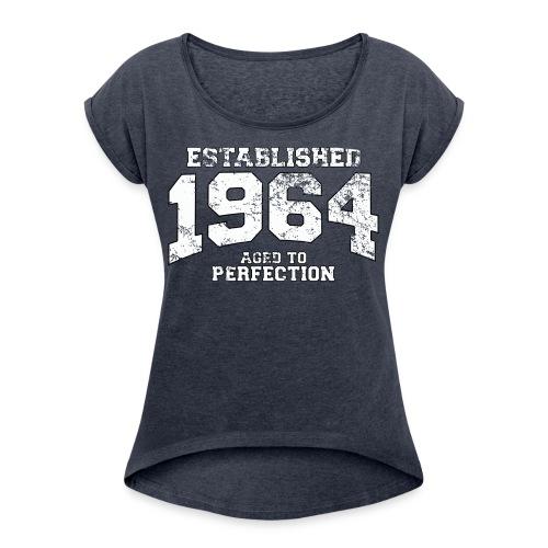 Perfect T-shity - T-shirt med upprullade ärmar dam