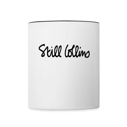 Kaffeebecher weiß/schwarz  - Tasse zweifarbig