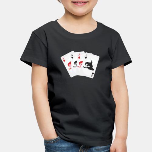 Kartenspiel Reining Kinder Shirt - Kinder Premium T-Shirt