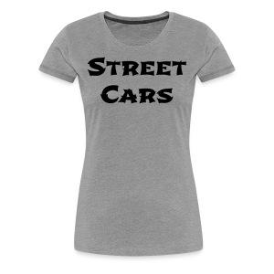 Street Cars - Shirt Vrouw (Zwart) - Vrouwen Premium T-shirt