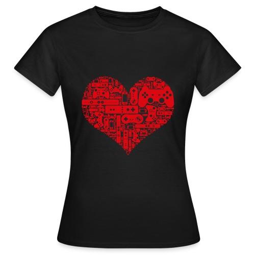 Tee-shirt Femme Gamer heart - T-shirt Femme