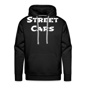 Street Cars - Hoodie Man (Wit) - Mannen Premium hoodie