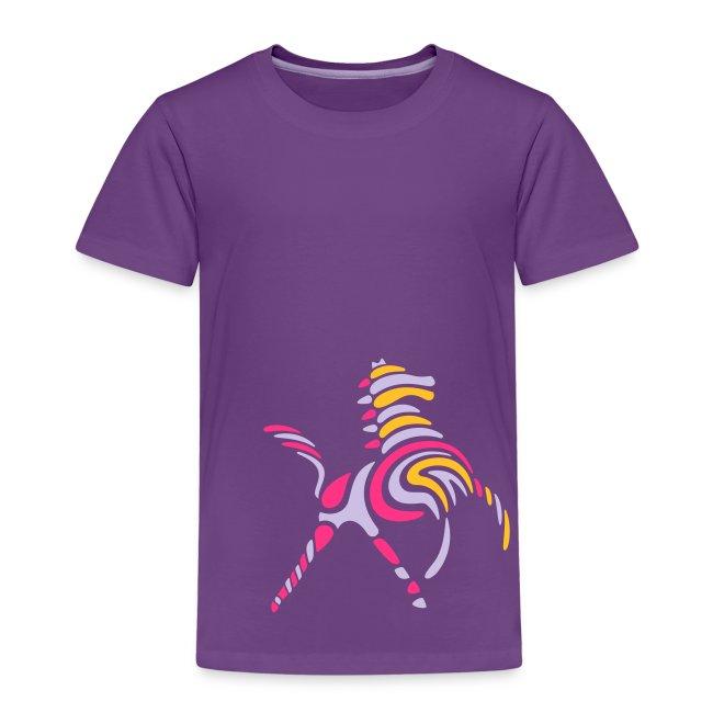 Wildes-Streifenpferd-Kinder-T-Shirt