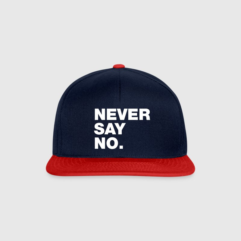 Navy/red Never Say No Caps & Hats - Snapback Cap
