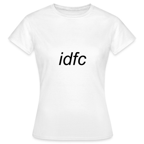 blackbear - idfc woman's t-shirt (black) - Women's T-Shirt