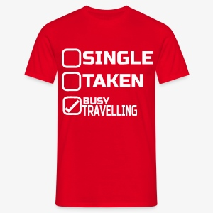 Single busy travelling - T-shirt Homme