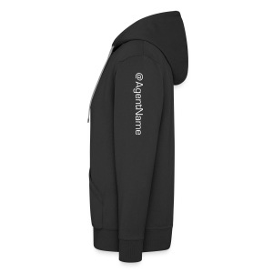 Men's hoodie with agent name - Men's Premium Hooded Jacket