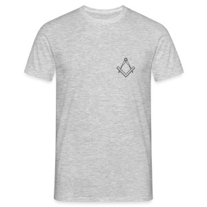 Square and compass (front) - Men's T-Shirt