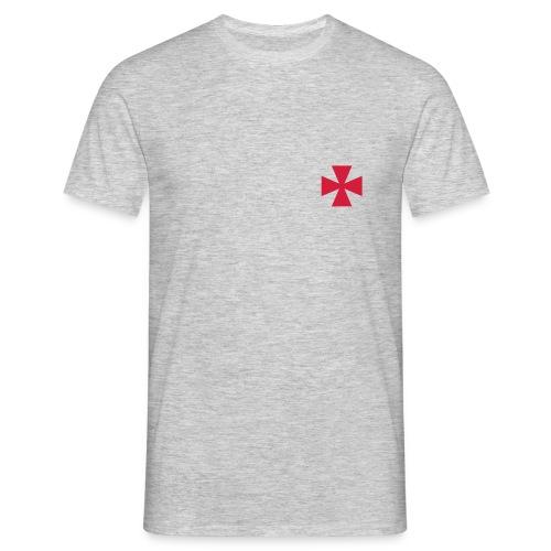 Red Templar Cross - Men's T-Shirt