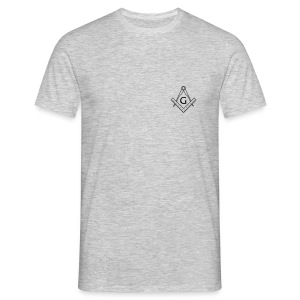 Square and compass with G (front) - Men's T-Shirt
