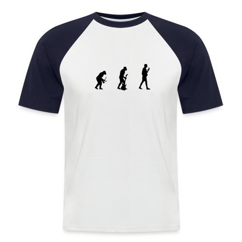 Evulotion 1 - Männer Baseball-T-Shirt