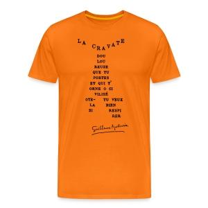 T-shirt Homme - Calligramme La cravate - T-shirt Premium Homme