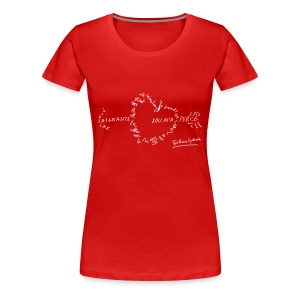 T-shirt Femme - Calligramme Flèche saignante (blanc) - T-shirt Premium Femme