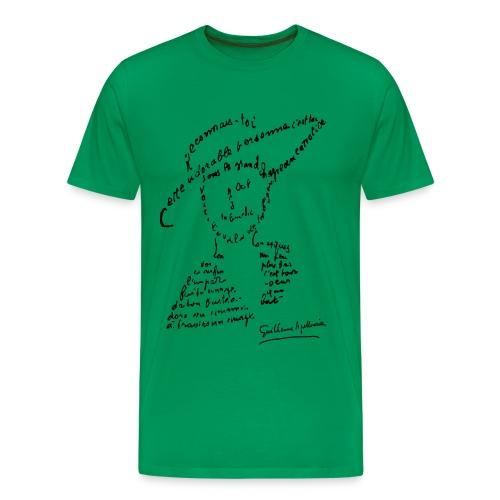 T-shirt Homme - Calligramme Lou au chapeau, Guillaume Apollinaire - T-shirt Premium Homme