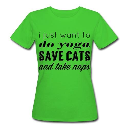 YOGA CATS AND NAPS ladies organic yoga tank - Women's Organic T-Shirt