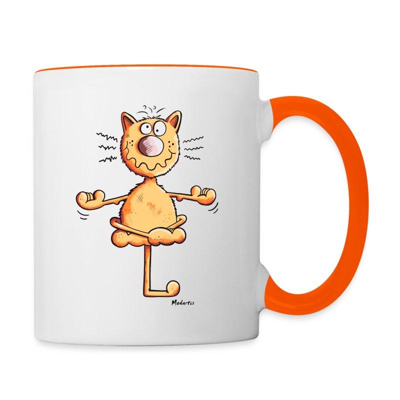 Yoga Katze Tasse | Spreadshirt