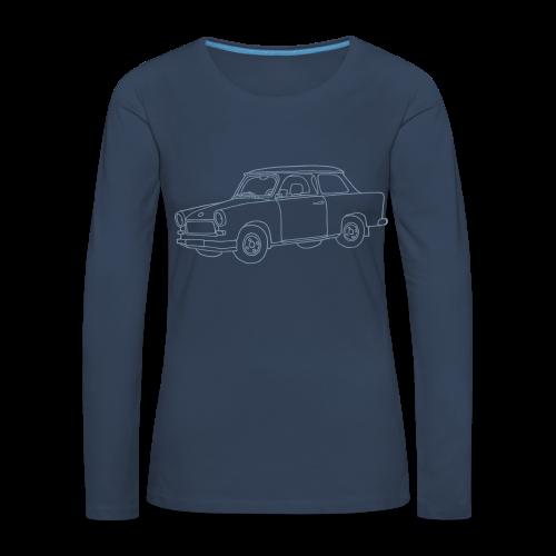 Trabi (silber) - Frauen Premium Langarmshirt
