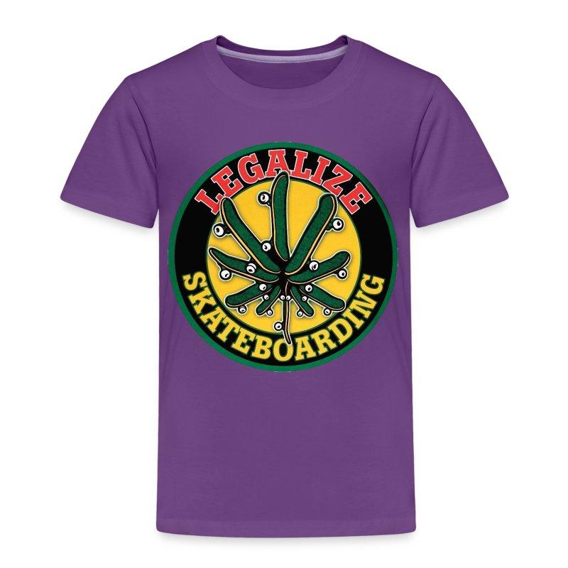 Legalize Skateboarding & Longboarding - Kinder Premium T-Shirt