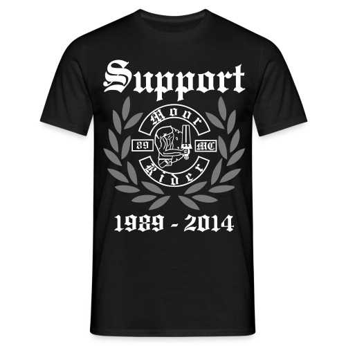 25 Jahre Supportshirt mit Backprint - Männer T-Shirt