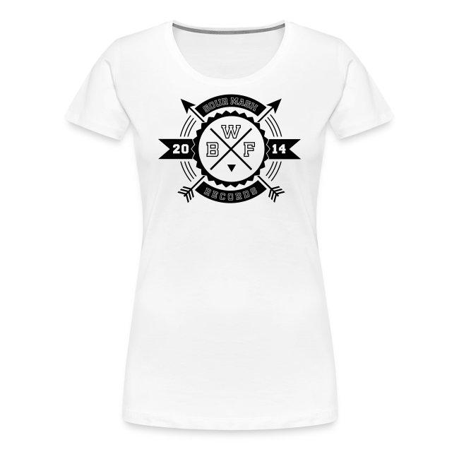 Frauen PremiumT-Shirt // BWF 2k14 (Logo weiß)
