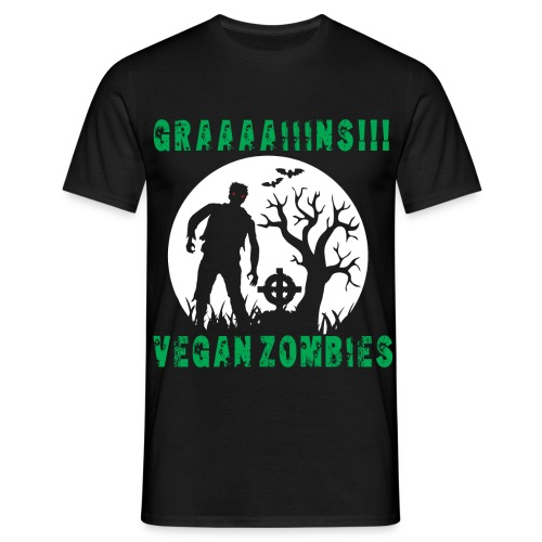 GRAAAAIIIINS Vegan Zombie - Männer T-Shirt