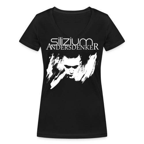 Frauen Bio-T-Shirt mit V-Ausschnitt von Stanley & Stella - silizium,andersdenker