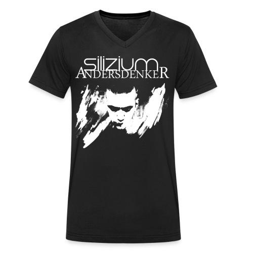 Männer Bio-T-Shirt mit V-Ausschnitt von Stanley & Stella - silizium,andersdenker