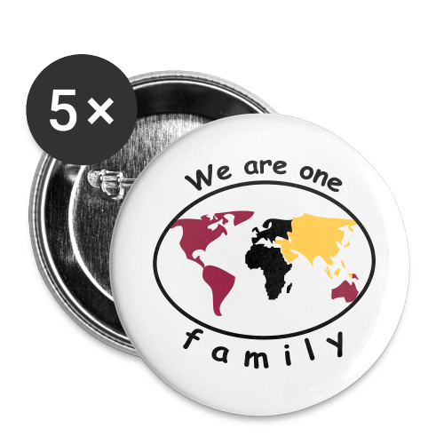 TIAN GREEN Button - We are one family - Buttons groß 56 mm (5er Pack)
