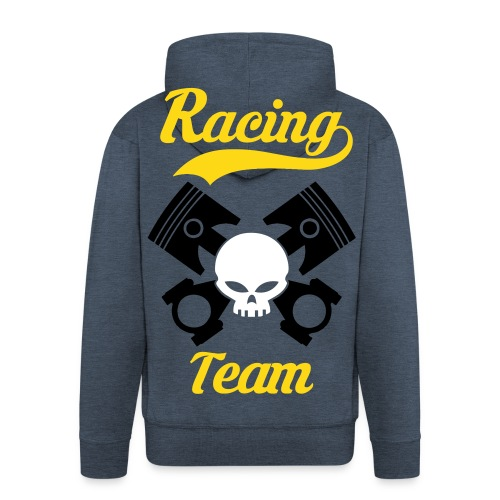 Skull racing team - Men's Premium Hooded Jacket