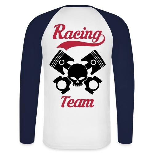 Skull racing team - Men's Long Sleeve Baseball T-Shirt