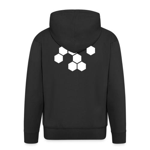 Männer Hoodie, Hexagon - Männer Premium Kapuzenjacke