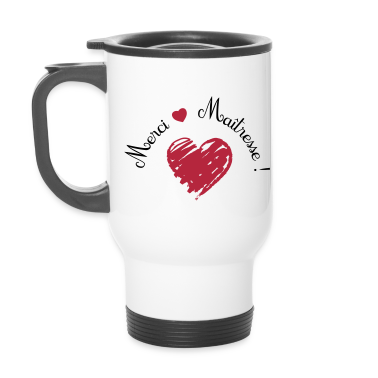 mug thermos merci ma tresse coeur cadeau de fin d 39 ann e. Black Bedroom Furniture Sets. Home Design Ideas