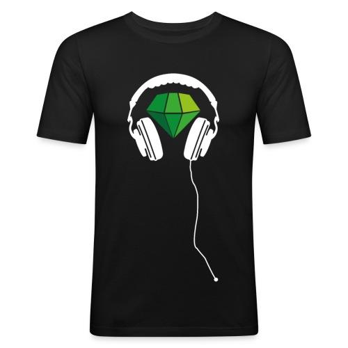 T-Shirt Jungs sportlicher Schnitt Schw./ Grün - Männer Slim Fit T-Shirt