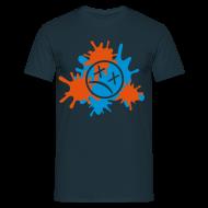 T-Shirts ~ Männer T-Shirt ~ Splatter-Zweifarbig (Flexdruck)