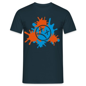 Splatter-Zweifarbig (Flexdruck) - Männer T-Shirt