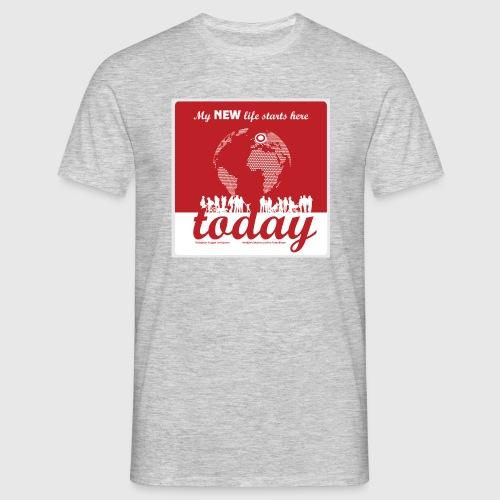 Mens Tshirt. - My NEW life starts today - Herre-T-shirt
