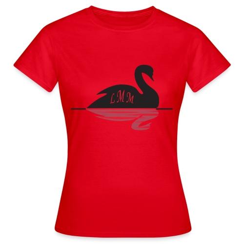 T-shirt femme rouge Cygne LMM  - T-shirt Femme