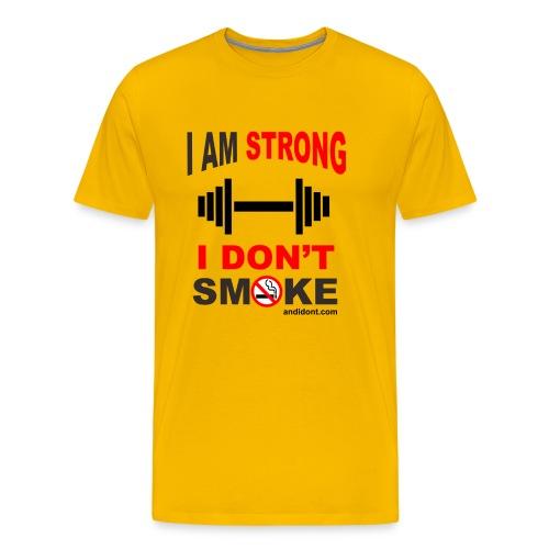 Strong People don't Smoke - Men's Premium T-Shirt