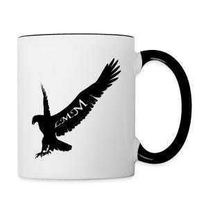 Mug blanc et noir Aigle LMM  - Tasse bicolore