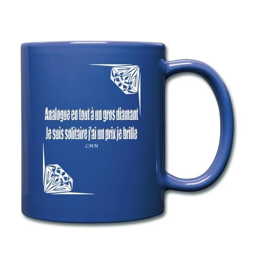 Mug bleu Solitaire - Mug uni