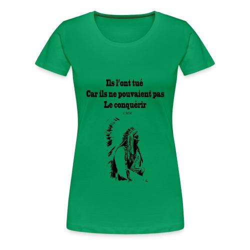 T-shirt femme vert Crazy Horse  - T-shirt Premium Femme