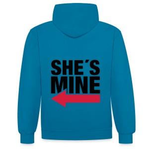 boyfriend shirt - Contrast hoodie