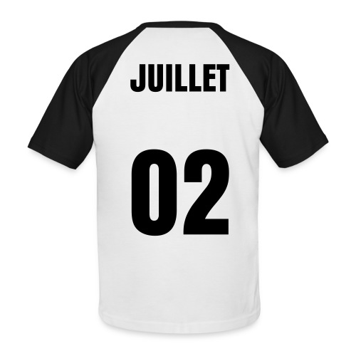 T-shirt Homme - Juillet 02 - T-shirt baseball manches courtes Homme