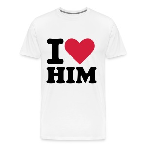 I LOVE HIM - Men's Premium T-Shirt
