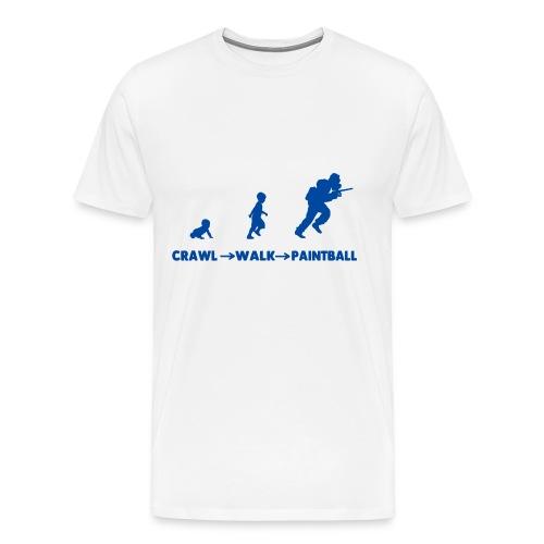 CRAWL, WALK, PAINTBALL - Men's Premium T-Shirt