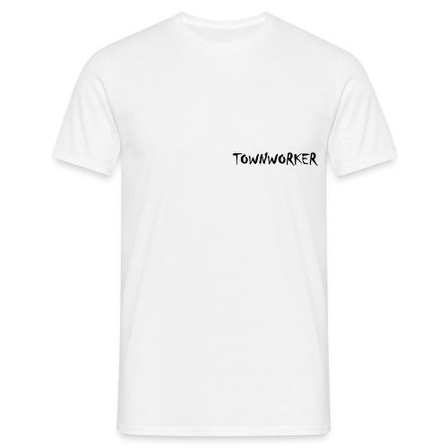 TOWNWORKER Herren-T-Shirt (schwarzes Logo) - Männer T-Shirt