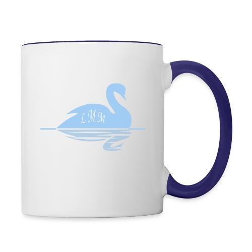 Mug blanc et bleu Cygne LMM  - Mug contrasté