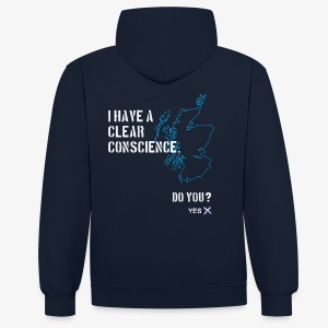 Clear Conscience - 2 Tone - Contrast Colour Hoodie